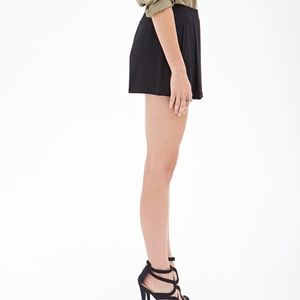 Forever 21 Skirts - Pleated Black Skort